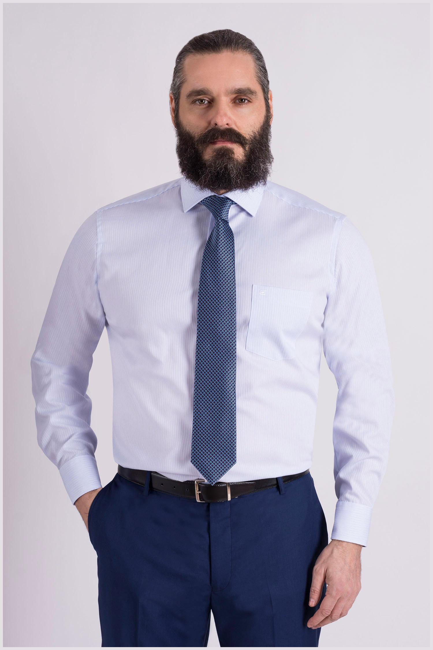 Camisas, Vestir Manga Larga, 109085, CELESTE | Zoom
