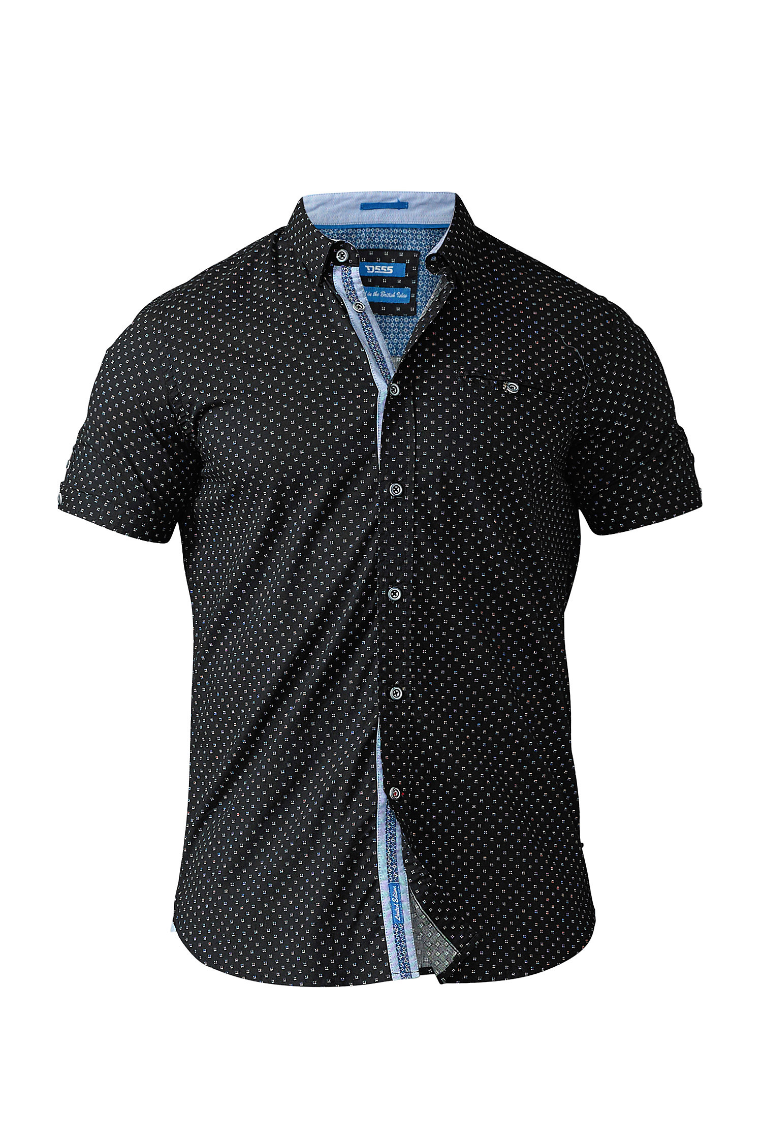 Camisas, Vestir Manga Corta, 109098, NEGRO | Zoom
