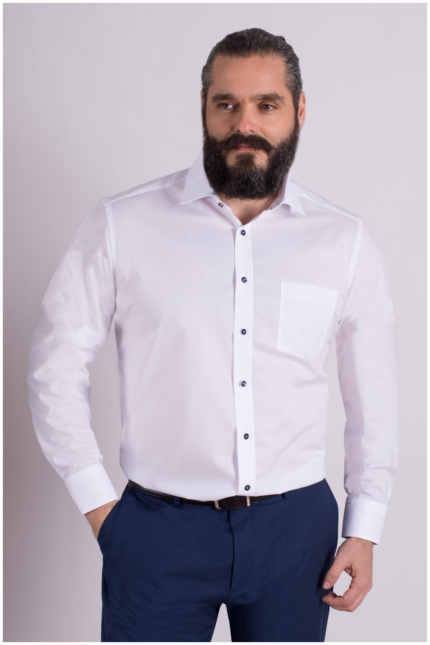 Camisas, Vestir Manga Larga, 109124, BLANCO | Zoom