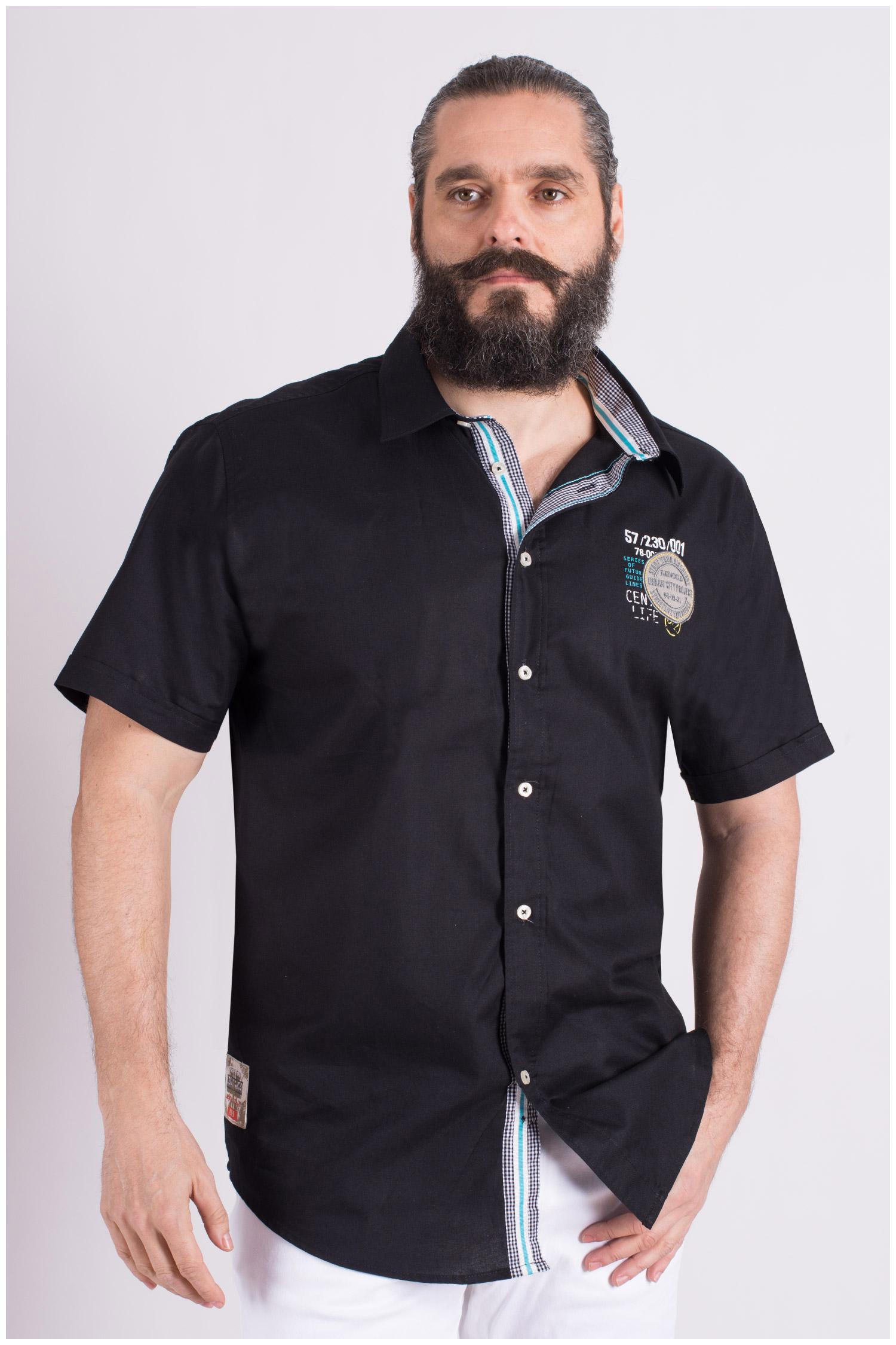 Camisas, Sport Manga Corta, 109132, NEGRO | Zoom