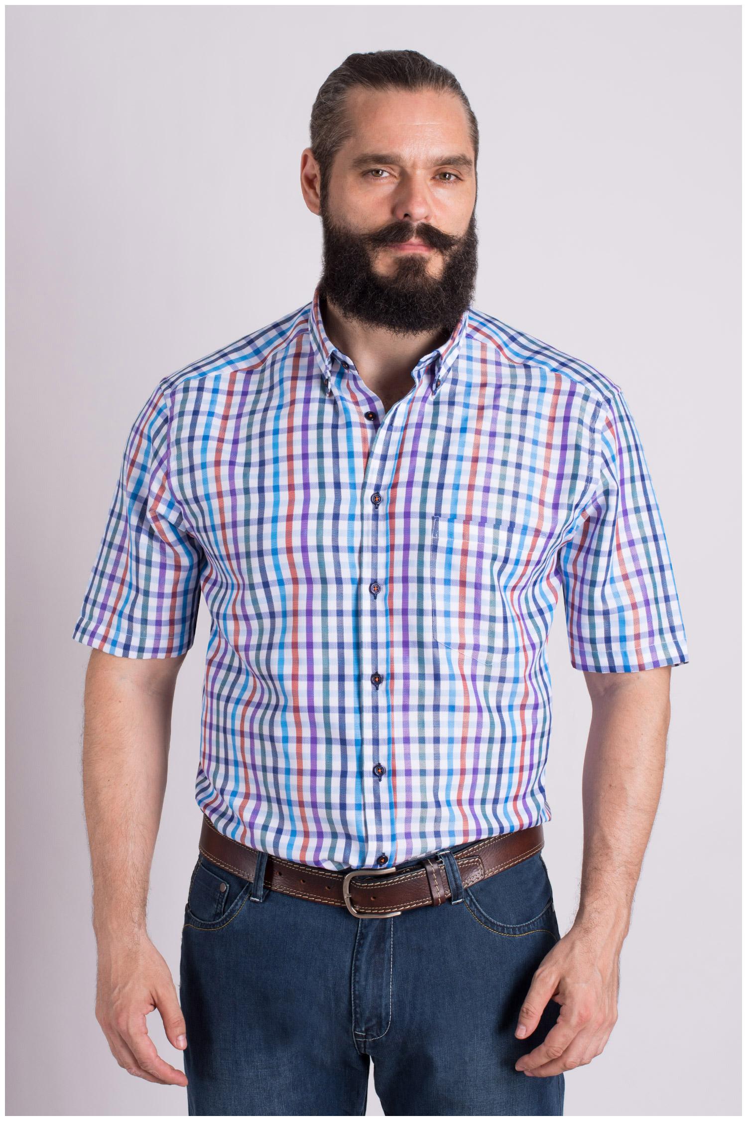 Camisas, Sport Manga Corta, 109300, AZUL | Zoom