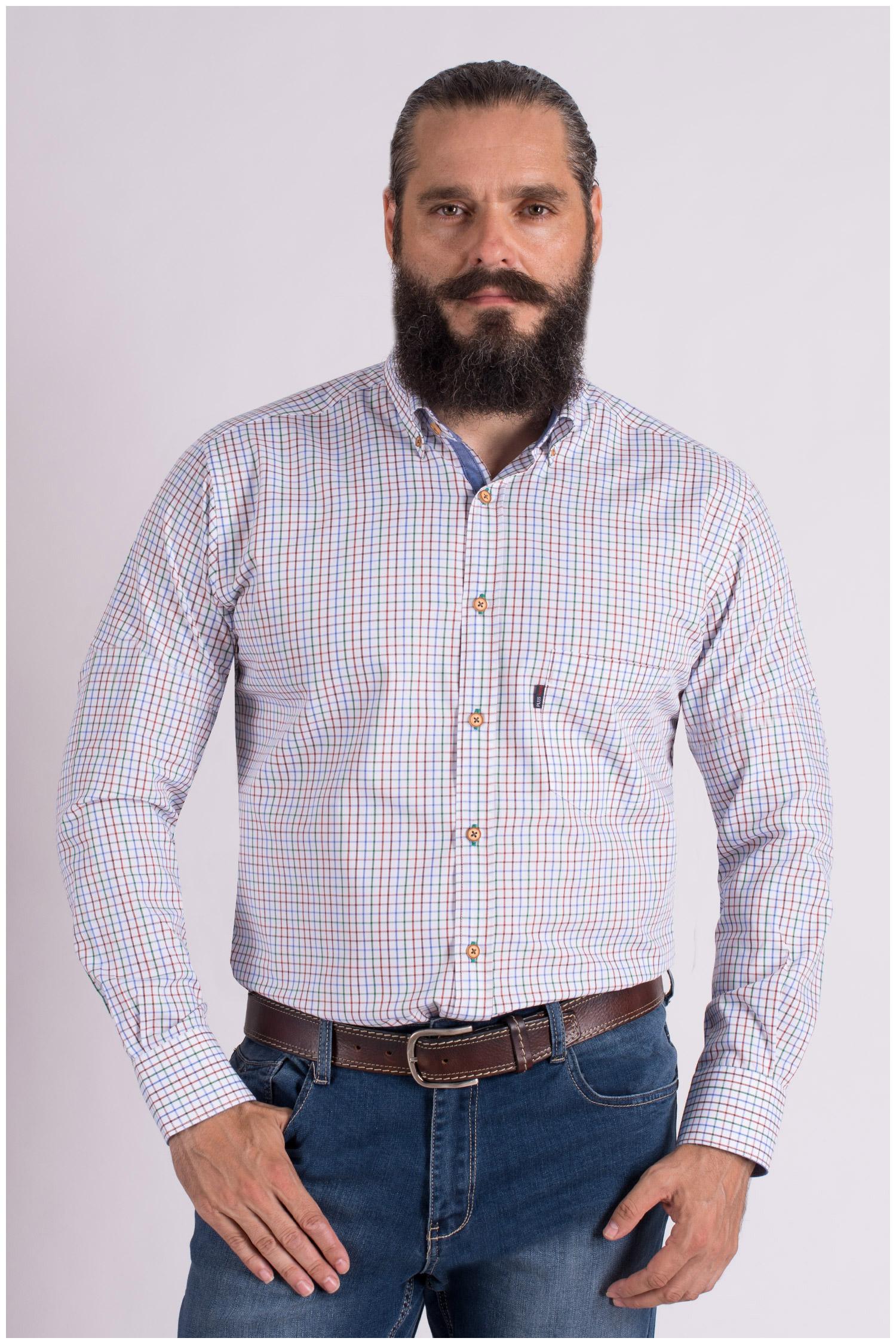 Camisas, Sport Manga Larga, 109331, BEIGE | Zoom