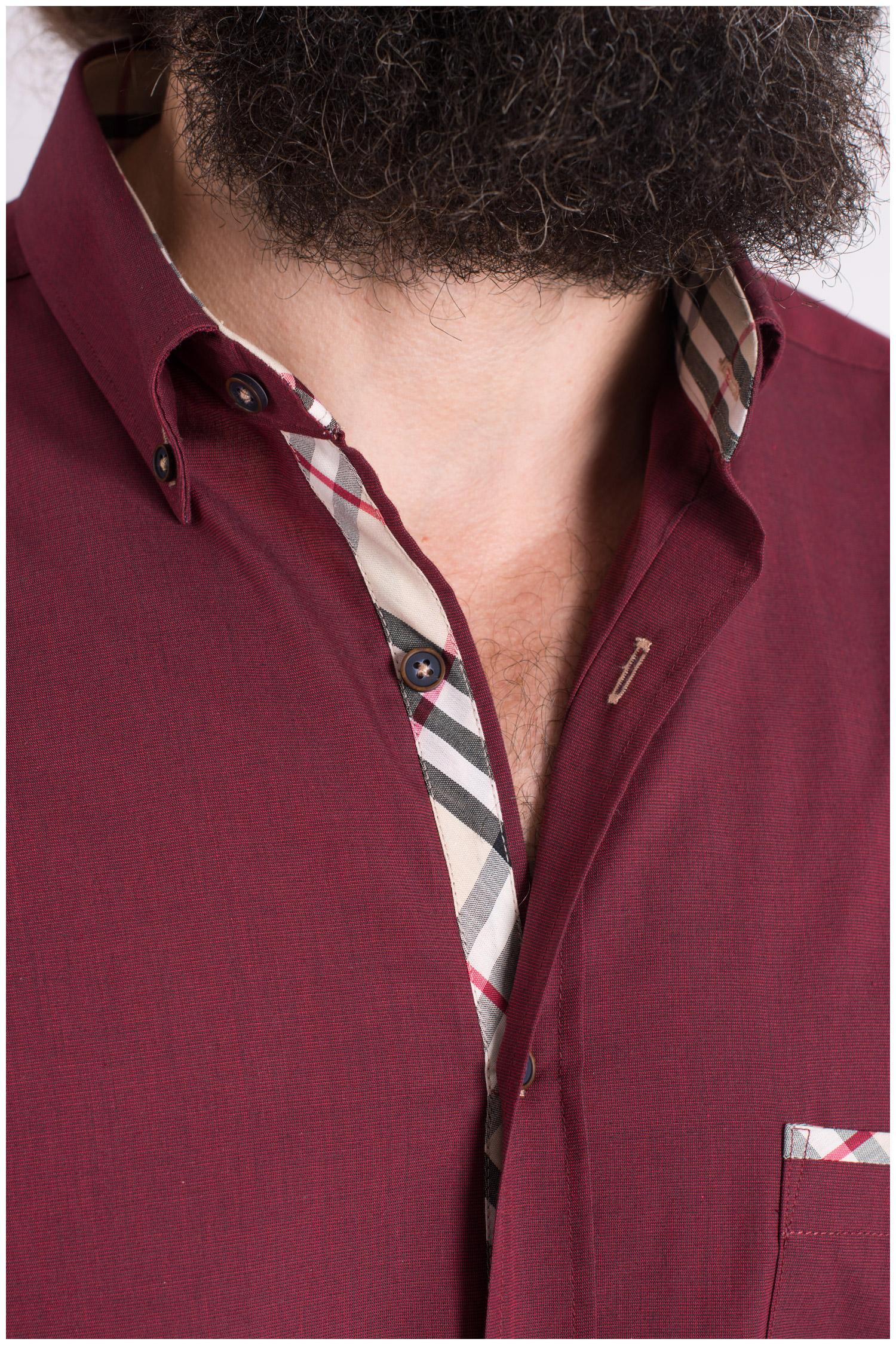 Camisas, Sport Manga Larga, 109332, GRANATE | Zoom