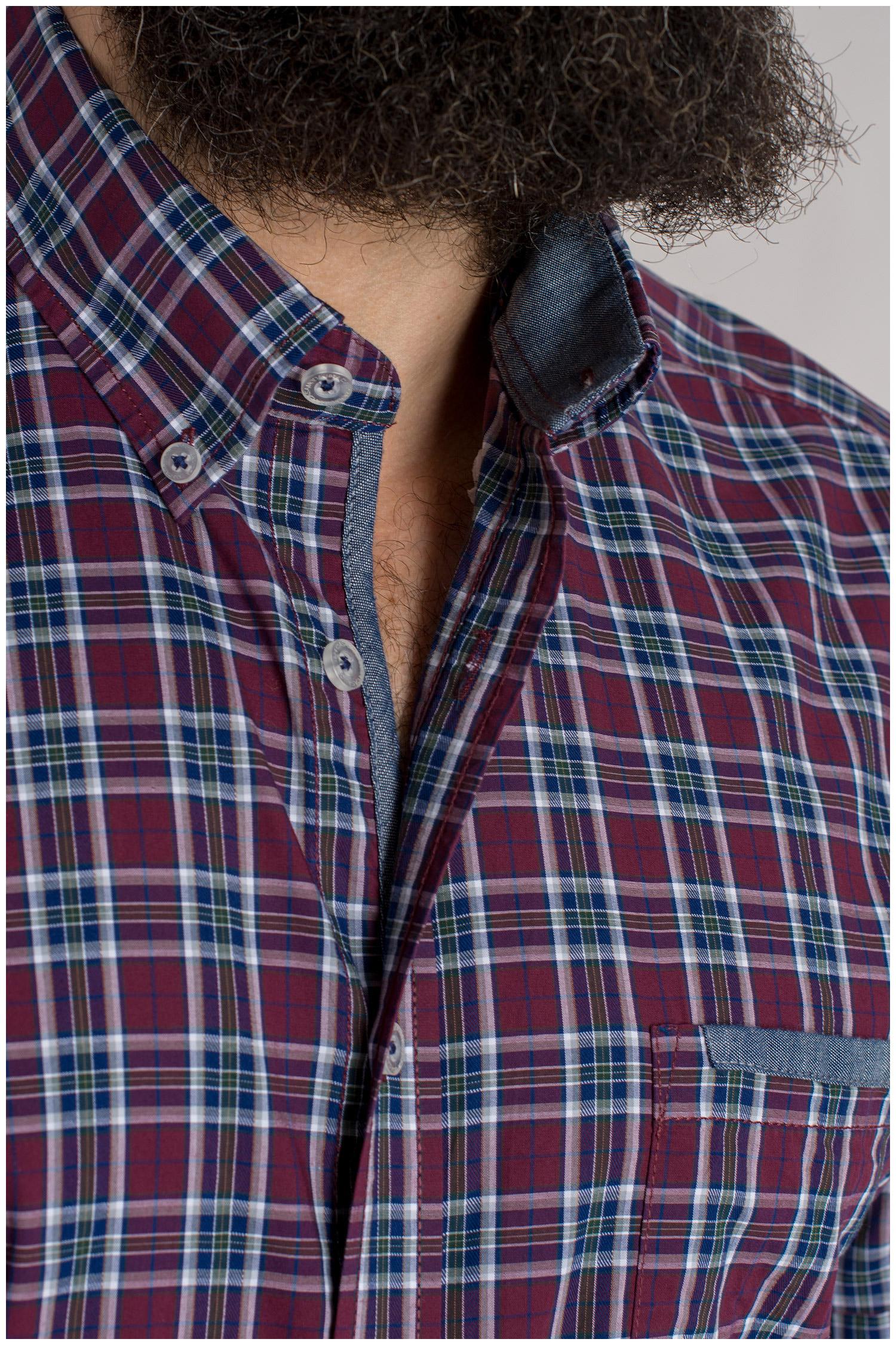 Camisas, Sport Manga Larga, 109398, GRANATE | Zoom