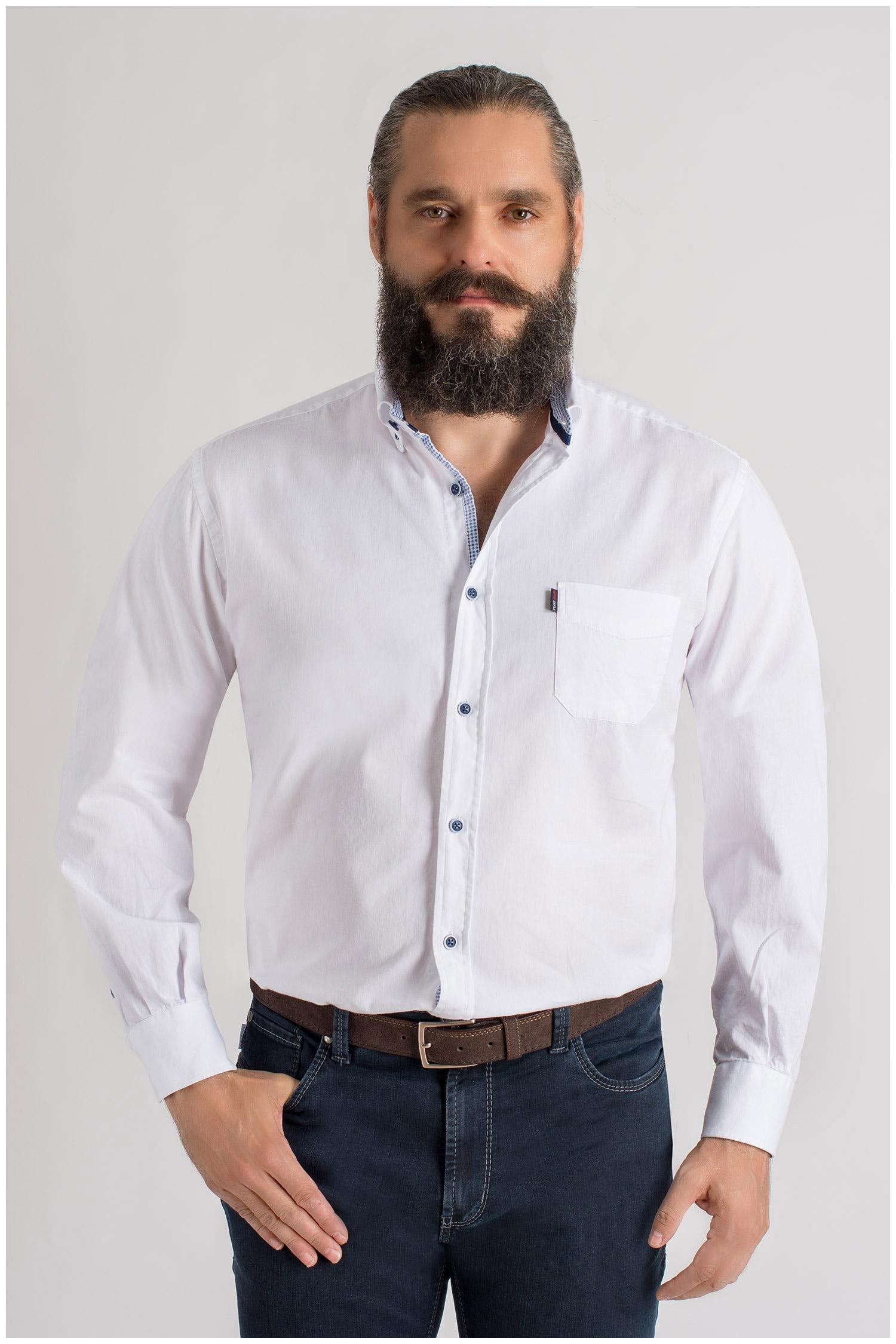 Camisas, Sport Manga Larga, 109406, BLANCO | Zoom