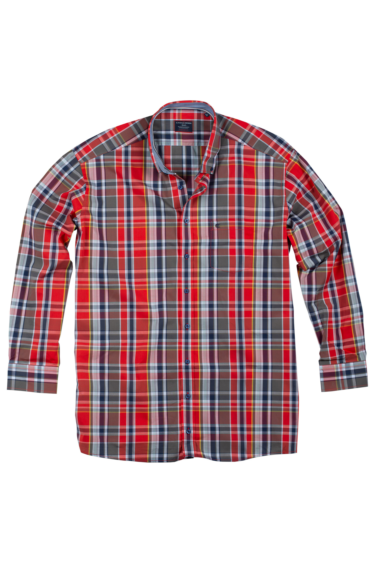 Camisas, Sport Manga Larga, 109513, ROJO | Zoom