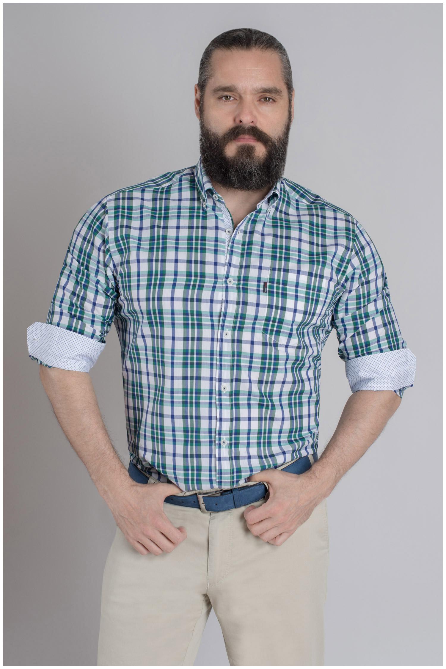 Camisas, Sport Manga Larga, 109621, VERDE   Zoom