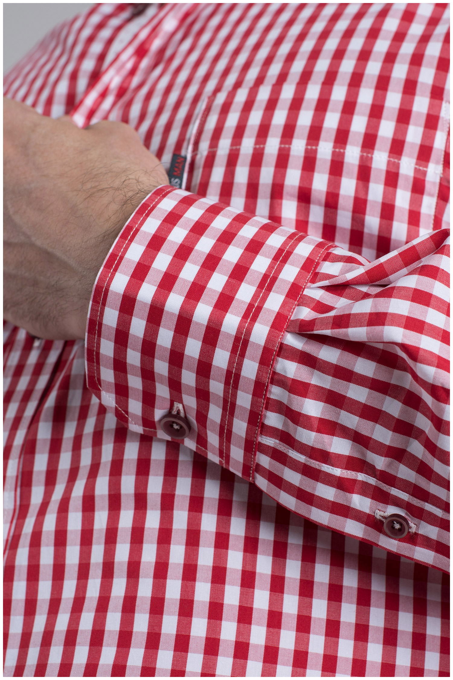 Camisas, Sport Manga Larga, 109622, ROJO   Zoom