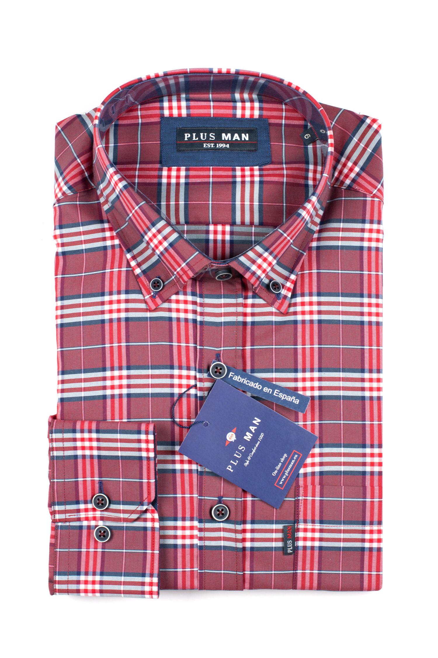 Camisas, Sport Manga Larga, 109840, GRANATE | Zoom