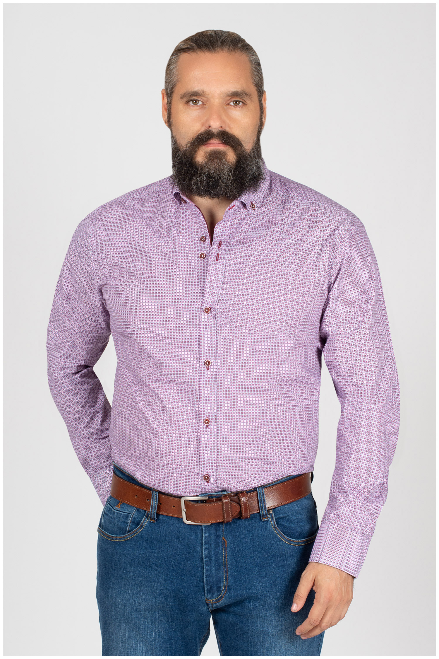 Camisas, Sport Manga Larga, 109842, GRANATE | Zoom
