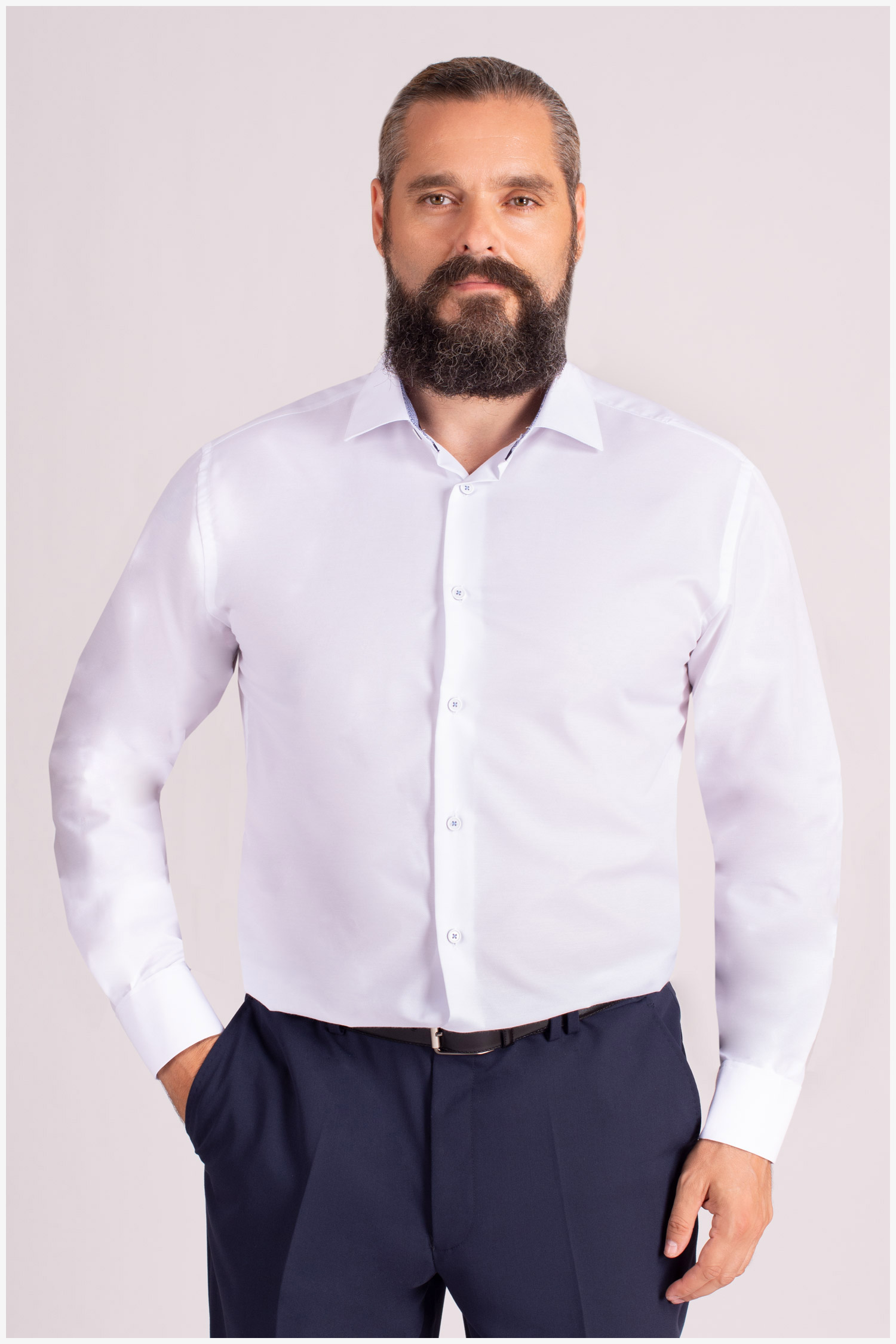 Camisas, Vestir Manga Larga, 109849, BLANCO | Zoom