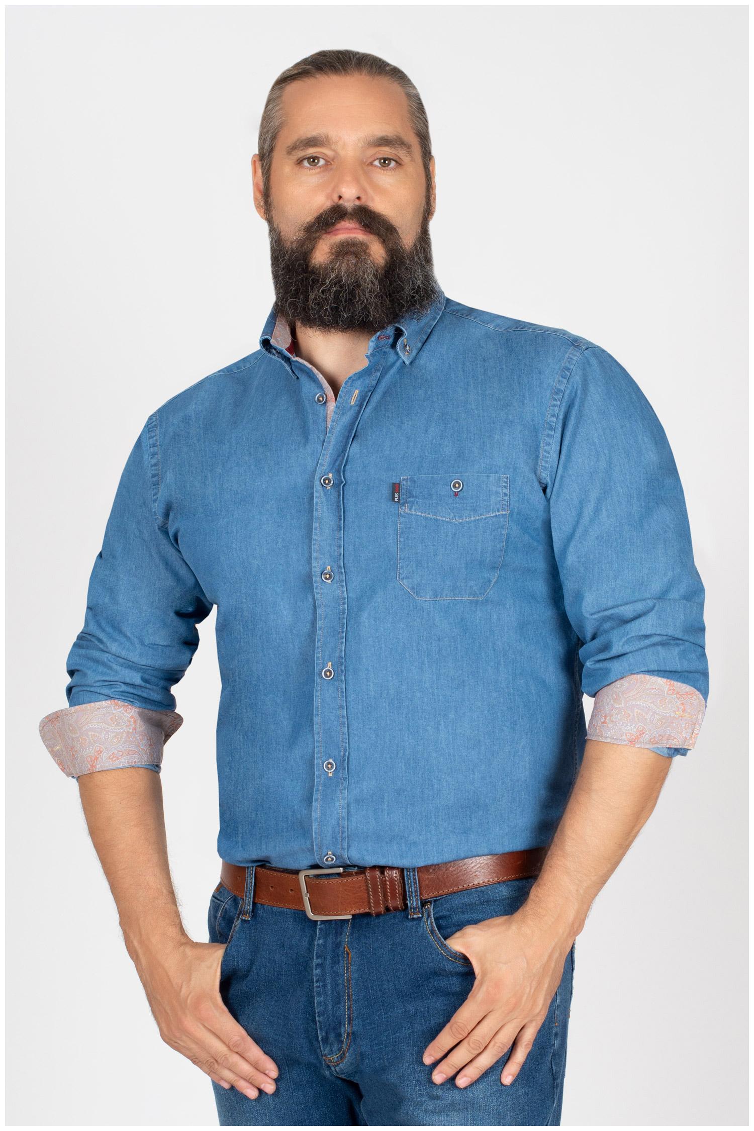 Camisas, Sport Manga Larga, 109852, INDIGO | Zoom