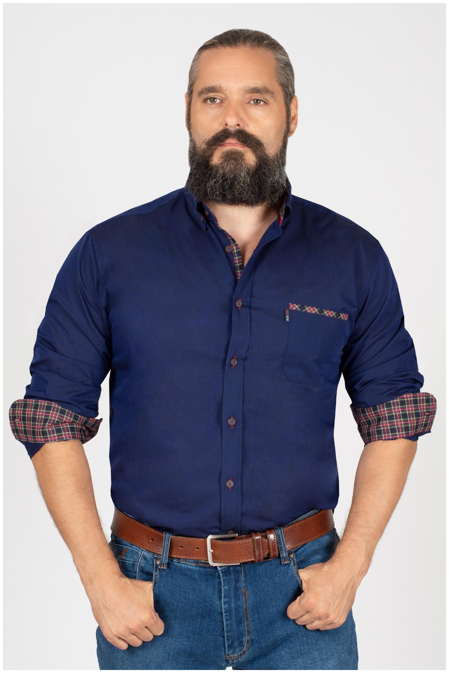 Camisas, Sport Manga Larga, 109853, MARINO | Zoom
