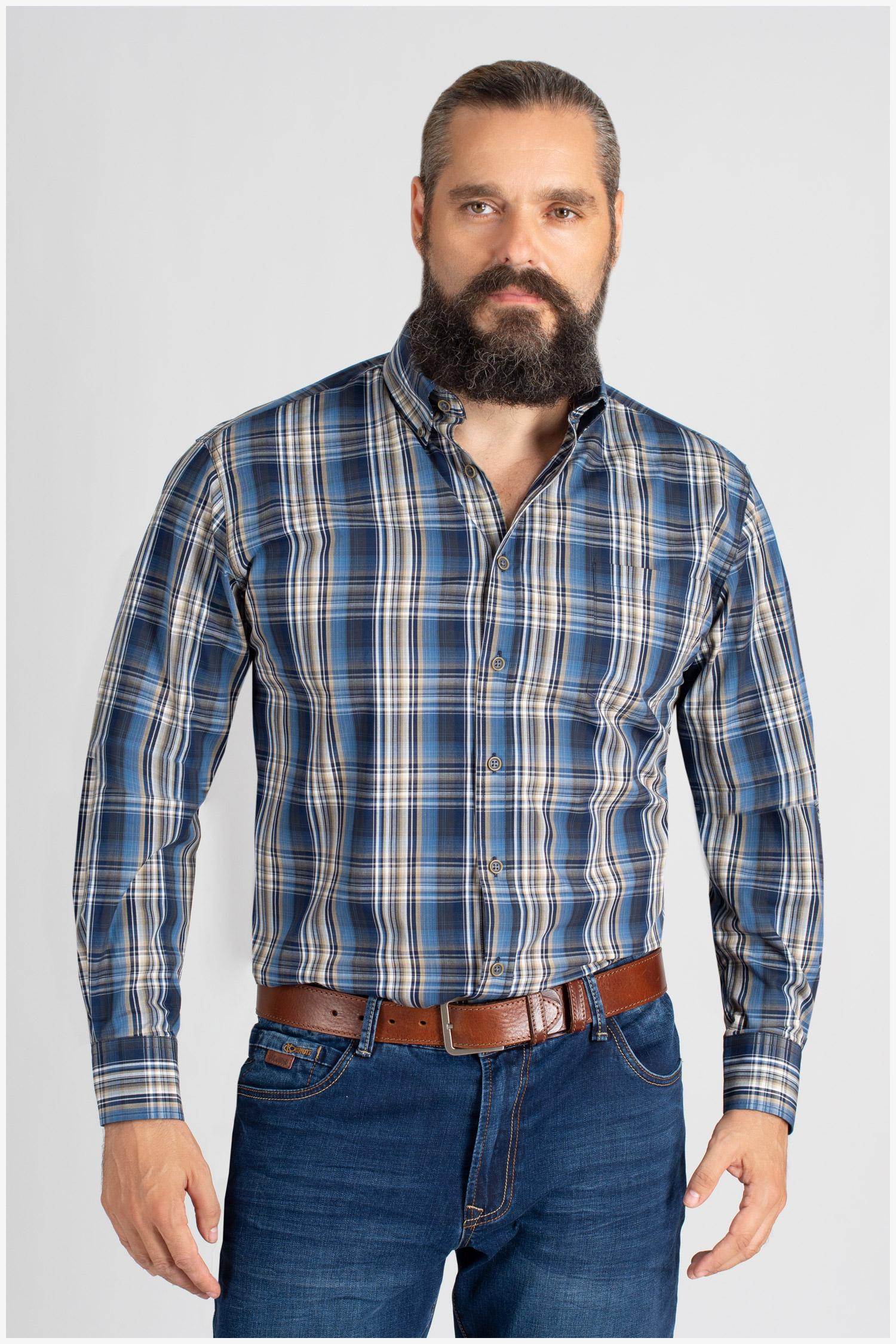 Camisas, Sport Manga Larga, 109856, MARINO | Zoom