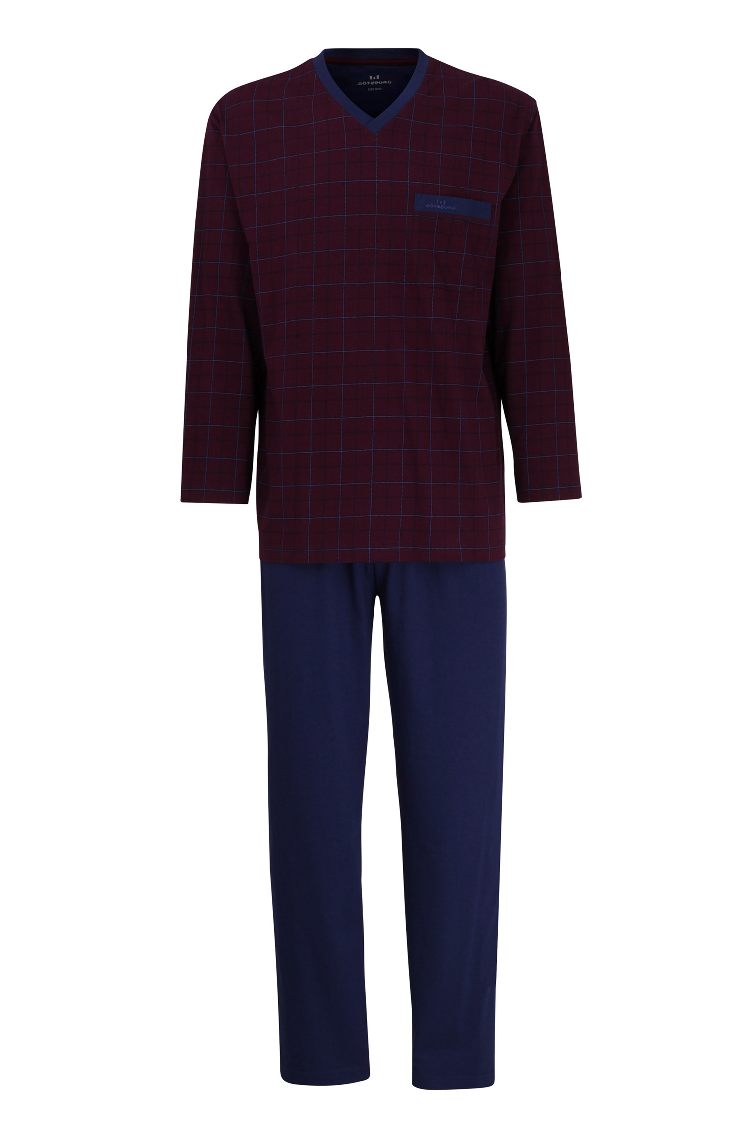 Homewear, Pijama M. Larga, 109882, BURDEOS | Zoom
