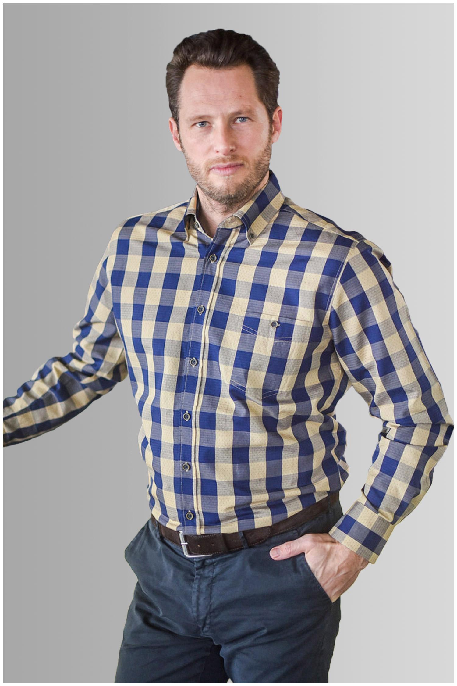 Camisas, Sport Manga Larga, 109895, BEIGE | Zoom