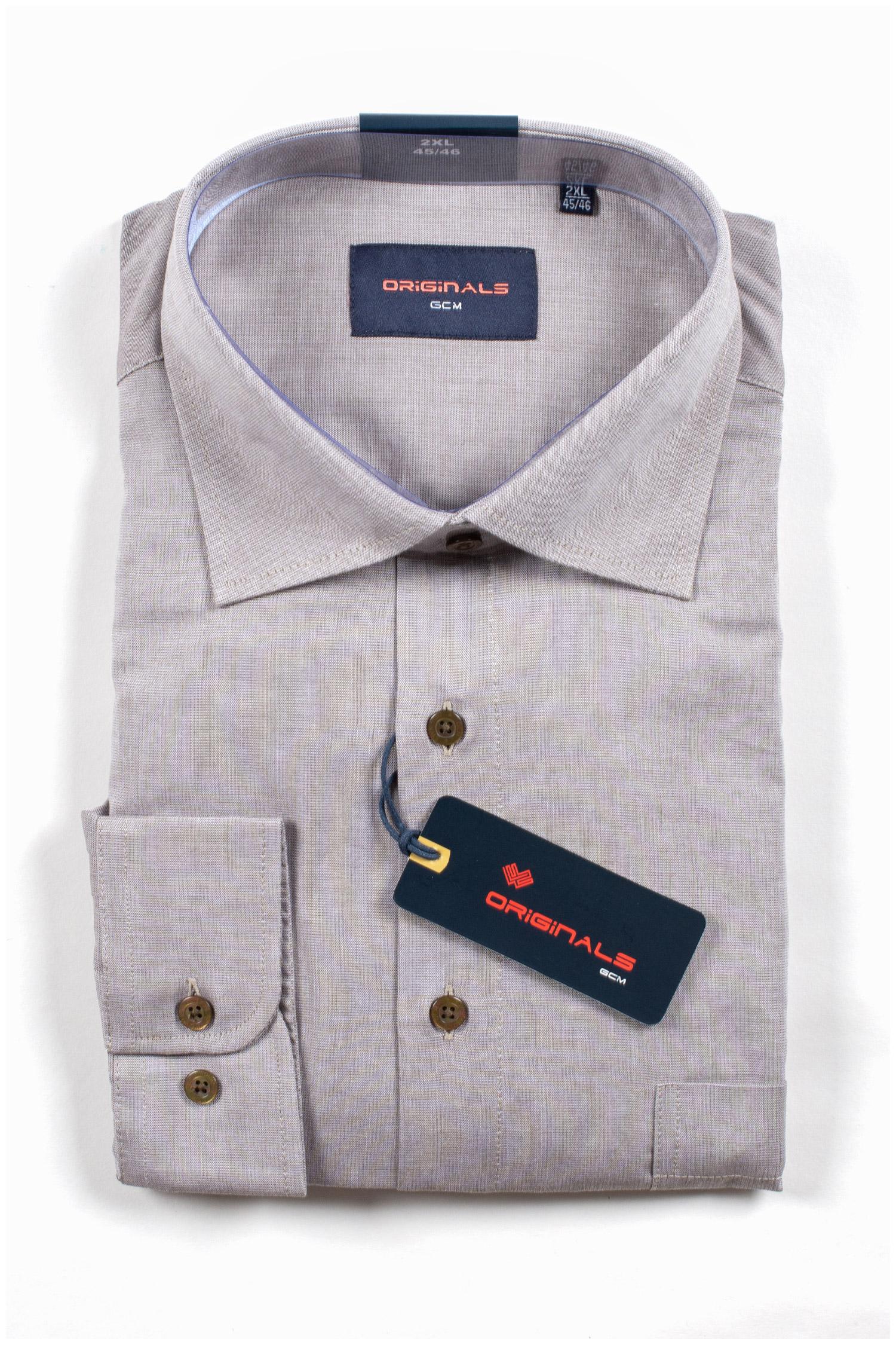 Camisas, Vestir Manga Larga, 109909, BEIGE | Zoom
