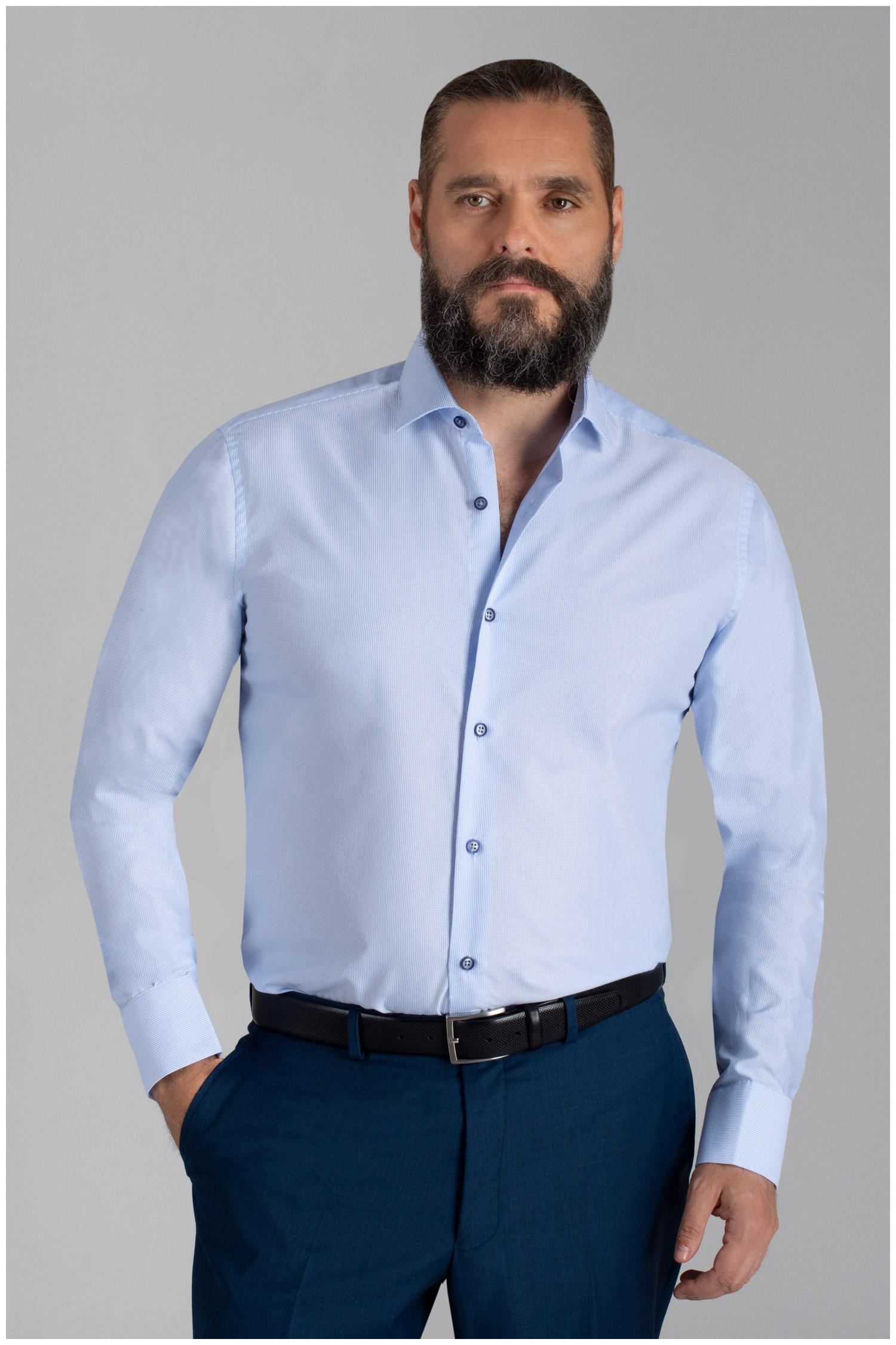 Camisas, Vestir Manga Larga, 110051, CELESTE | Zoom