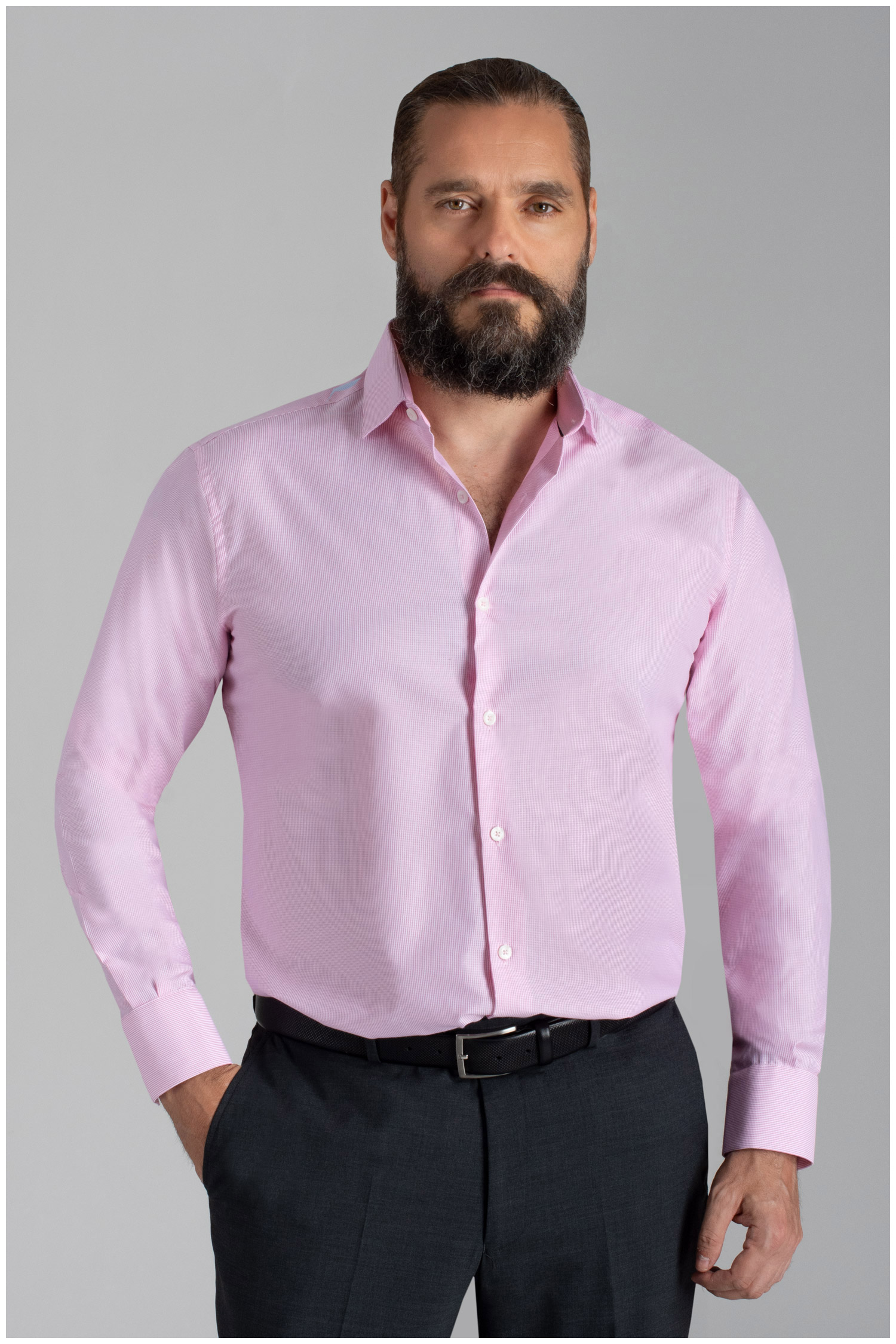 Camisas, Vestir Manga Larga, 110051, ROSA | Zoom