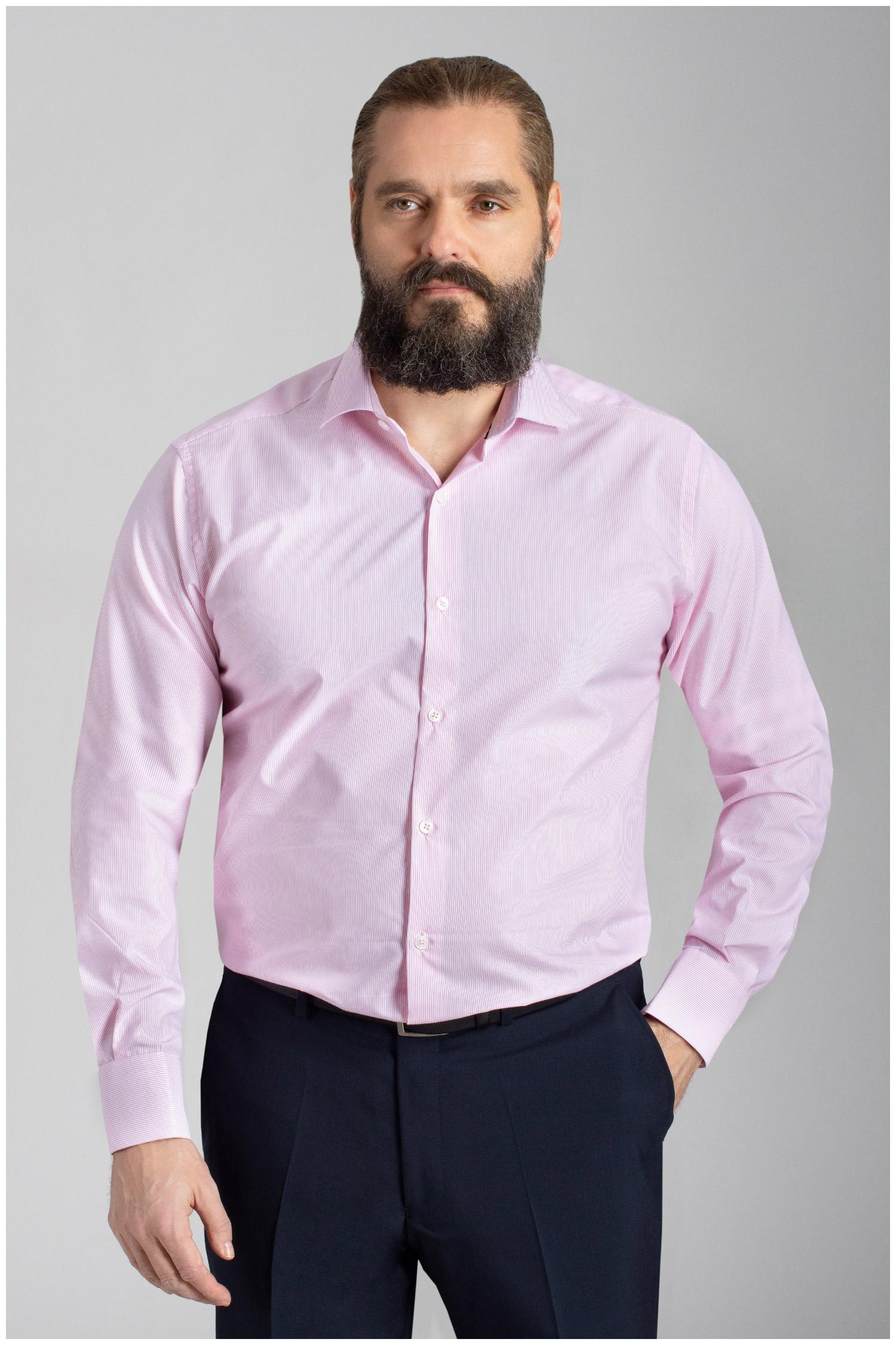 Camisas, Vestir Manga Larga, 110053, ROSA | Zoom