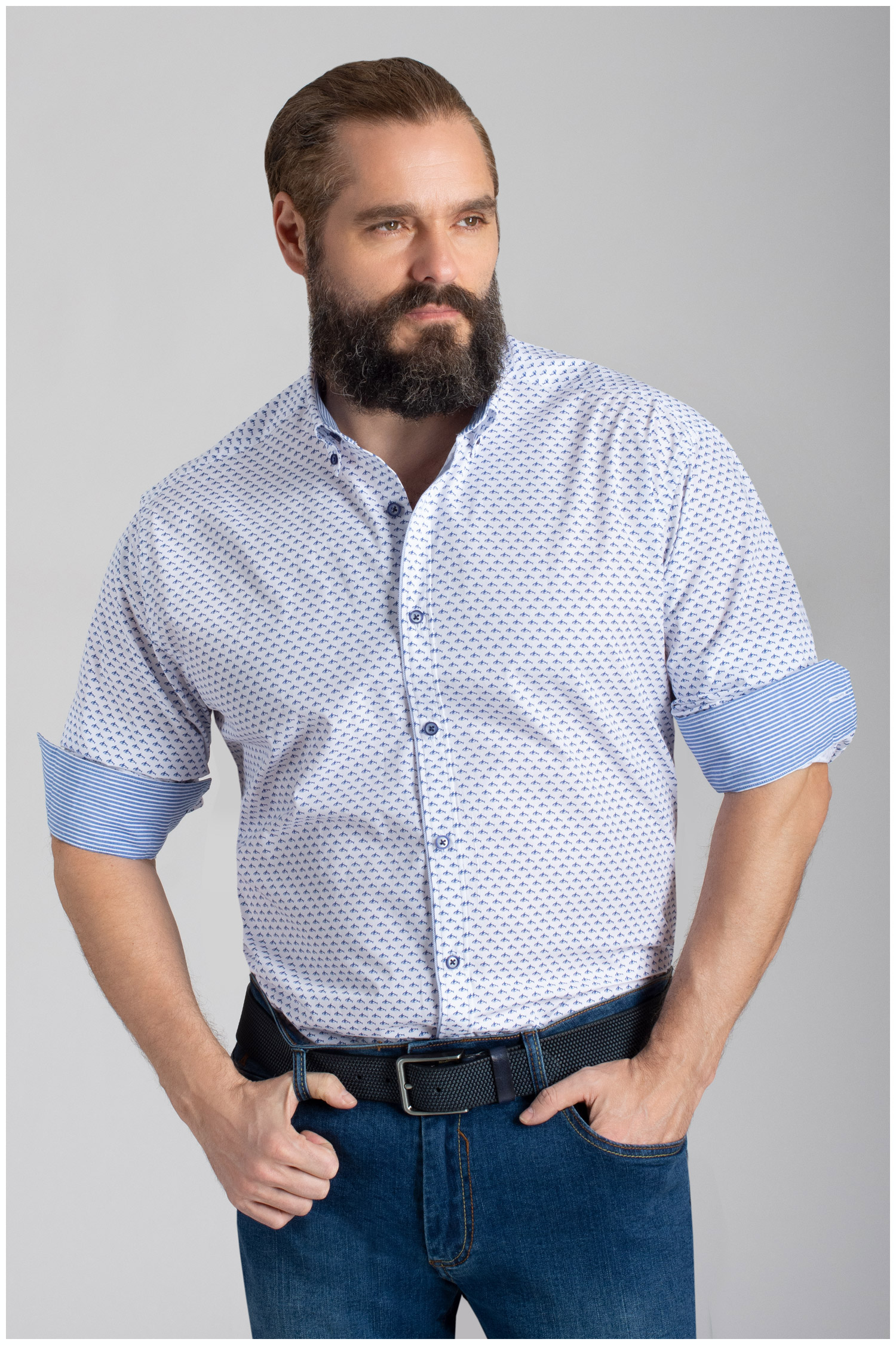 Camisas, Sport Manga Larga, 110062, MARINO | Zoom
