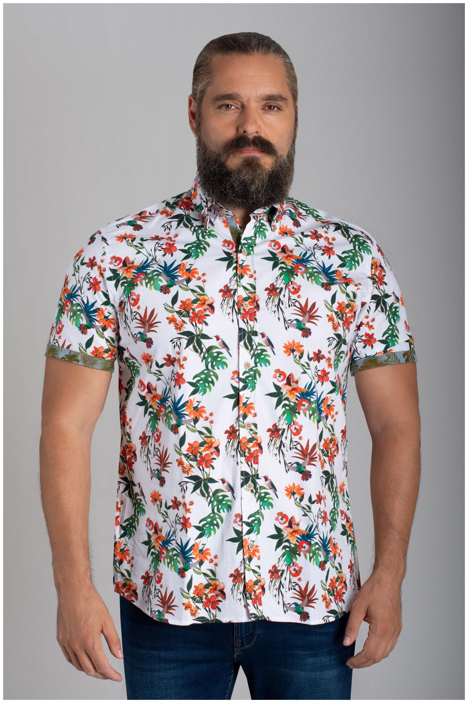 Camisas, Sport Manga Corta, 110066, ROJO | Zoom