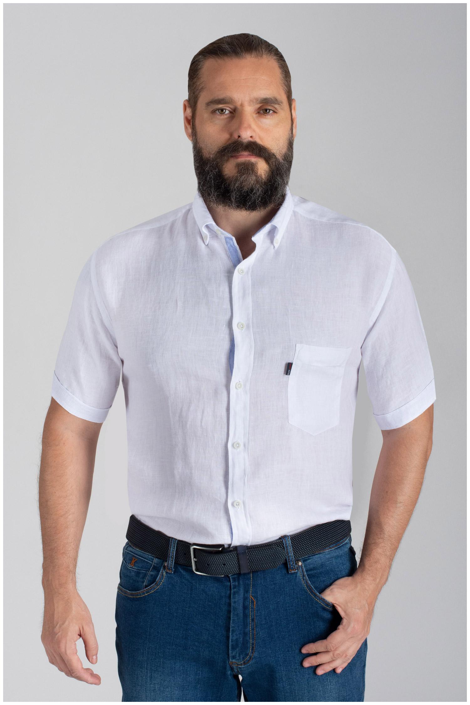 Camisas, Sport Manga Corta, 110073, BLANCO | Zoom
