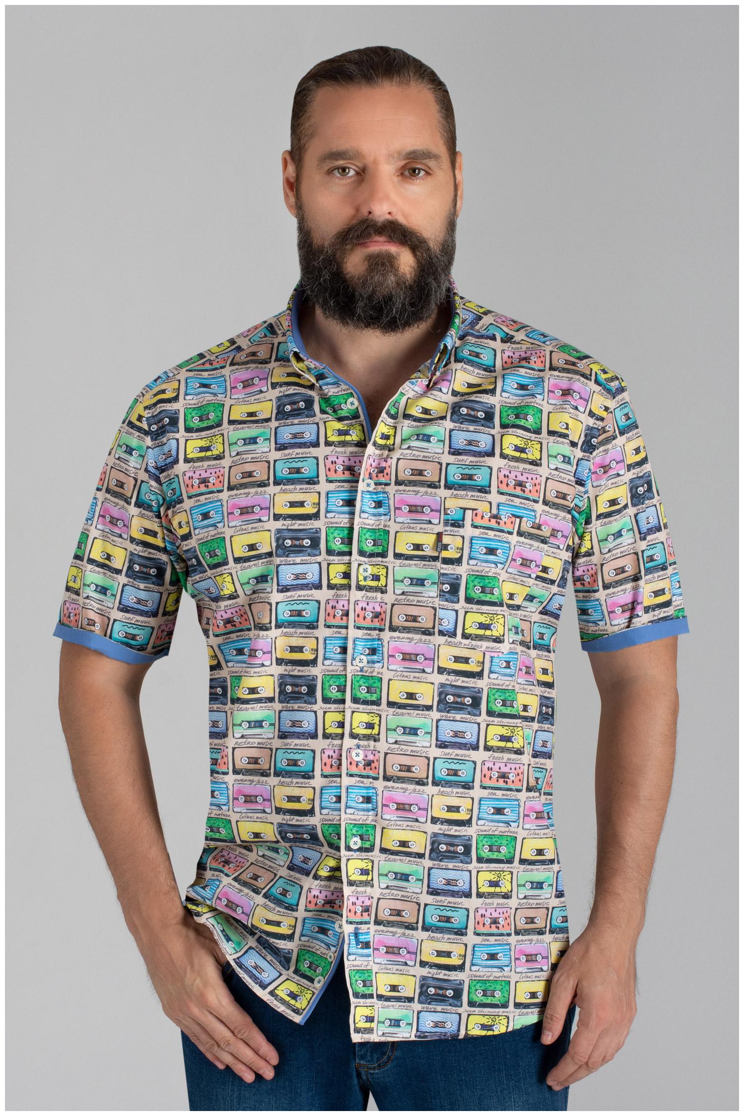 Camisas, Sport Manga Corta, 110151, AZUL | Zoom