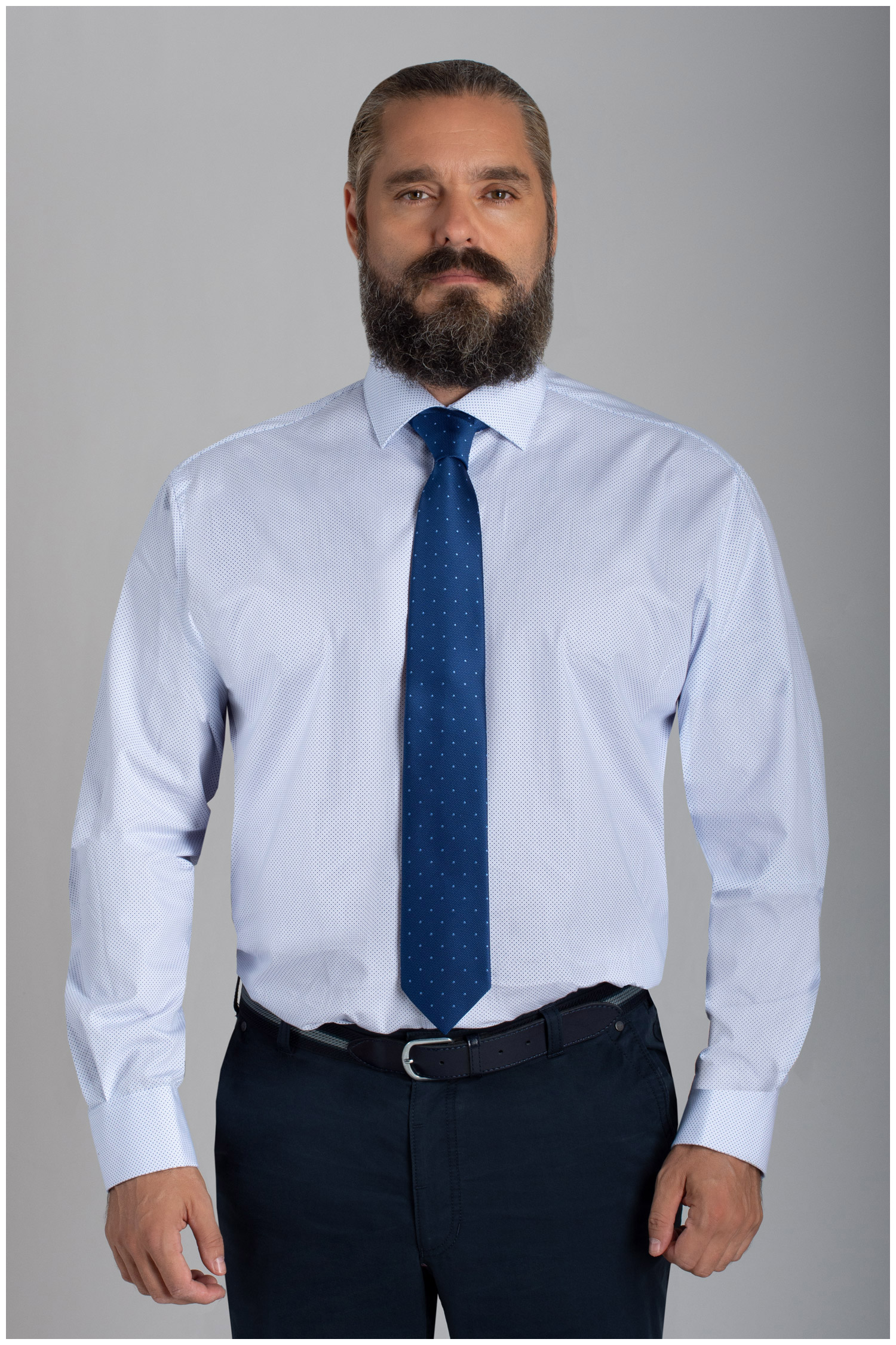 Camisas, Vestir Manga Larga, 110412, CELESTE | Zoom