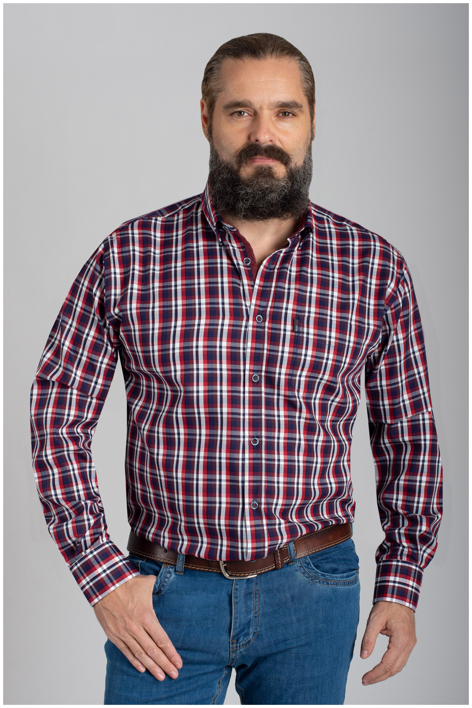 Camisas, Sport Manga Larga, 110420, GRANATE   Zoom