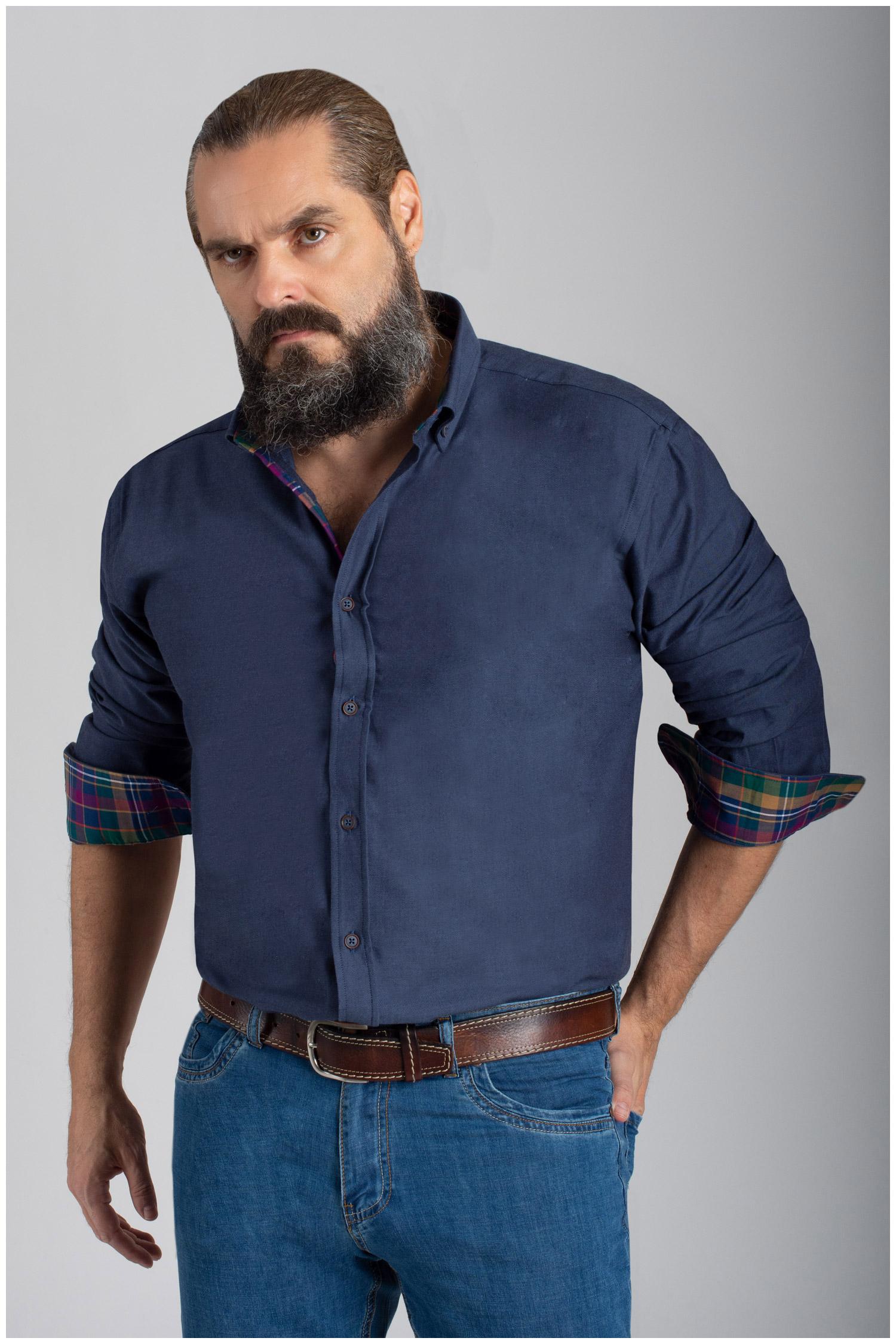 Camisas, Sport Manga Larga, 110422, MARINO | Zoom