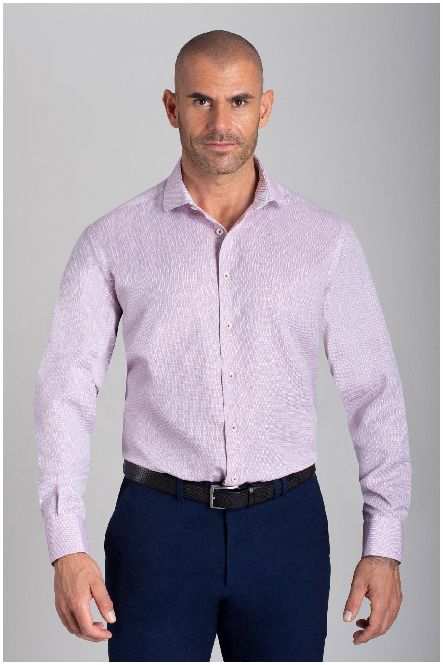 Camisas, Vestir Manga Larga, 110479, FUCSIA | Zoom