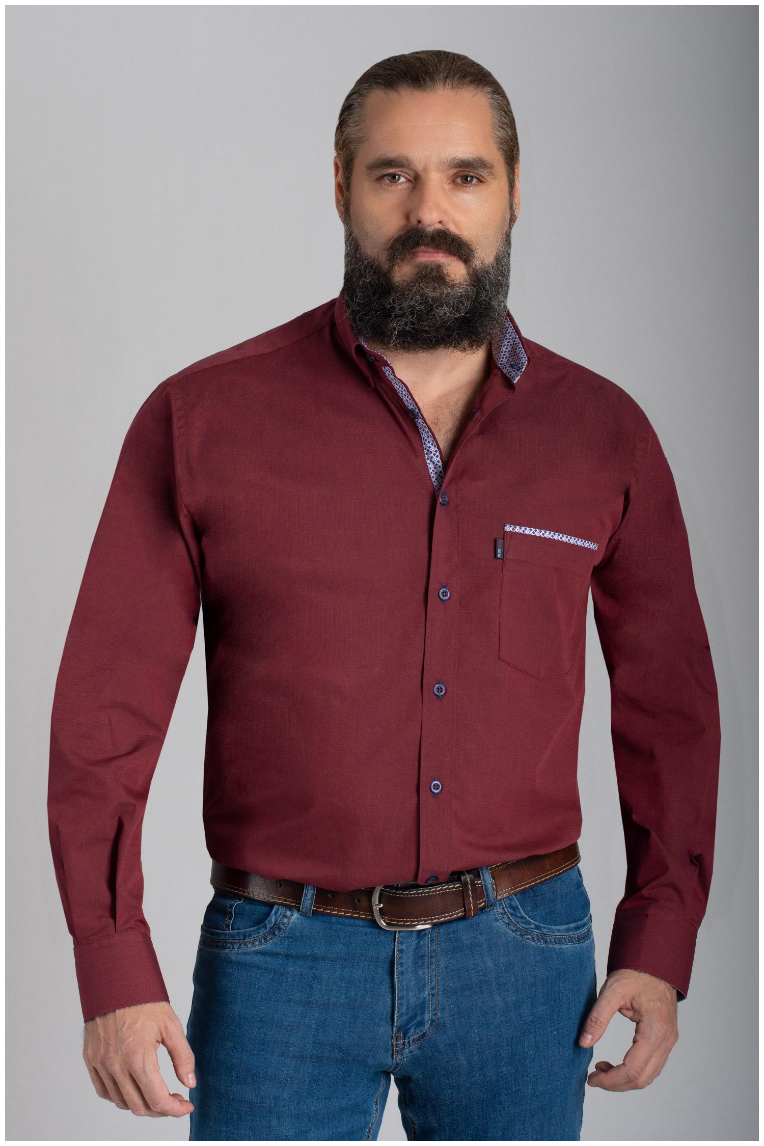 Camisas, Sport Manga Larga, 110483, GRANATE | Zoom