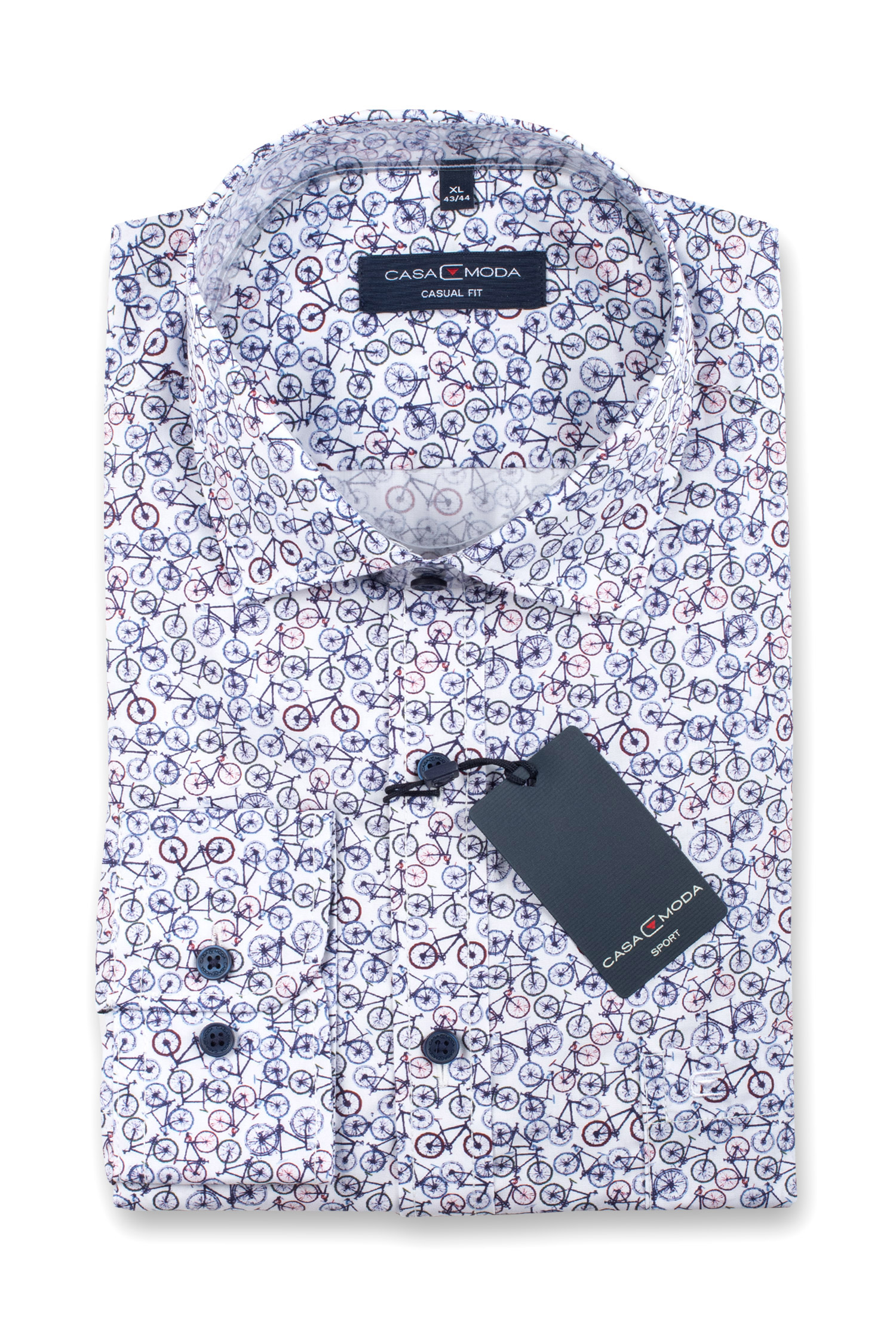 Camisas, Sport Manga Larga, 110538, MARINO | Zoom