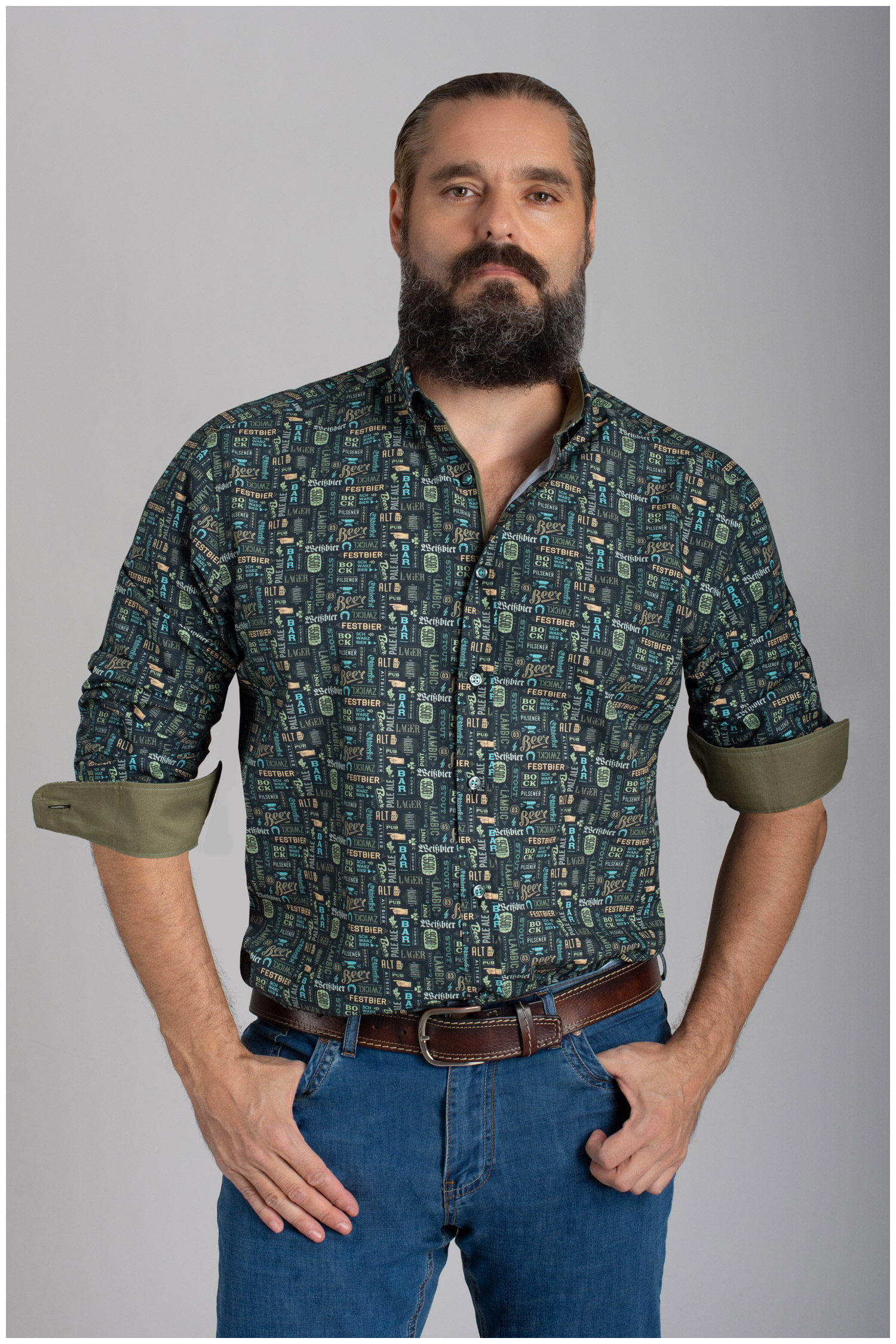 Camisas, Sport Manga Larga, 110558, VERDE | Zoom