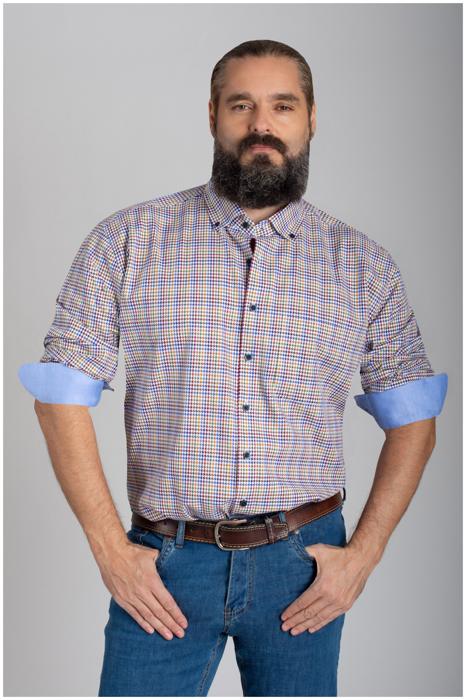 Camisas, Sport Manga Larga, 110636, MARINO | Zoom